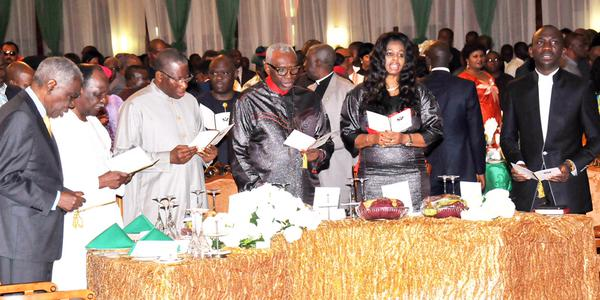 President Jonathan at 5th Presidential Breakfast Prayer, urges leaders to make sacrifices for the nation, April 25.